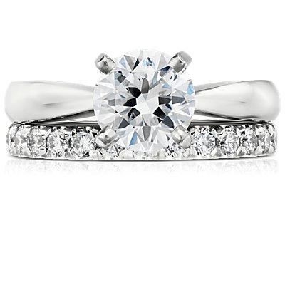 Scalloped Pavé Diamond Ring in 18k White Gold