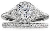 Bague en diamants sertis pavé Riviera en platine (1/4carat, poids total)