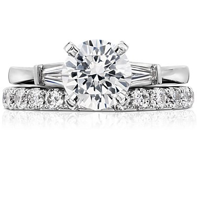 Riviera Pavé Diamond Eternity Ring in 14k White Gold (1 ct. tw.)