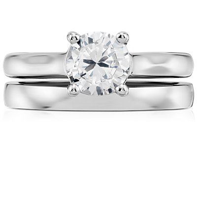 Low Dome Comfort Fit Wedding Ring in 14k White Gold (2.5 mm)