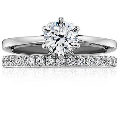 Bague d'éternité diamants sertis pavé Riviera en platine (1/2carat, poids total)