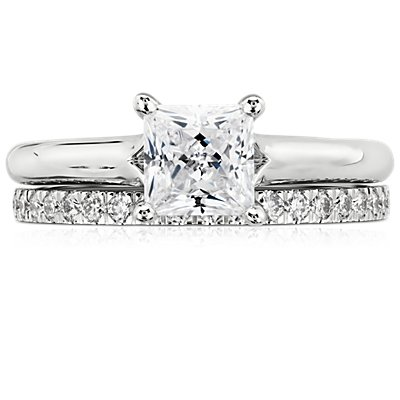 Petite Pavé Diamond Ring in 14k White Gold (1/3 ct. tw.)