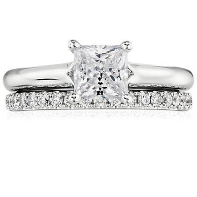 Riviera Pavé Diamond Eternity Ring in 14k White Gold (1/2 ct. tw.)