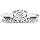 Petite Pavé Diamond Ring in Platinum (1/3 ct. tw.)