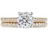 Bague d'éternité diamants sertis pavé en or jaune 18carats (1/2carat, poids total)