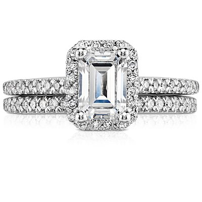 Alliance diamants sertis pavé en or blanc 14 carats (1/6 carat, poids total)