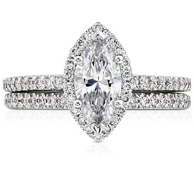 Pave Diamond Wedding Ring in Platinum (1/6 ct. tw.)