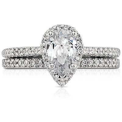 Pavé Wedding Ring en platino (1/6 qt. total)