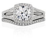 Monique Lhuillier Pavé Diamond Ring in Platinum (.12 ct. tw.)