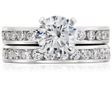 Channel-Set Diamond Ring in Platinum (1/2 ct. tw.)