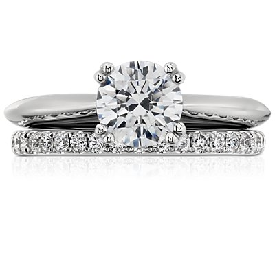 Riviera Pavé Diamond Ring in Platinum (1/4 ct. tw.)