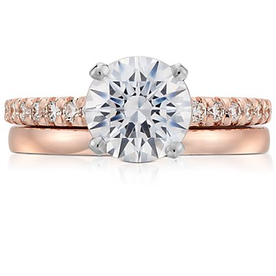 Alliance confort dôme simple en or rose 14 carats (2 mm)