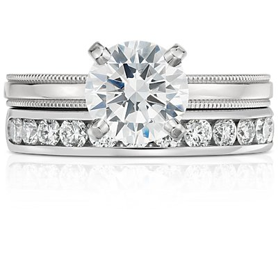 Bague diamant serti barrette  en platine (1/2carat, poids total)