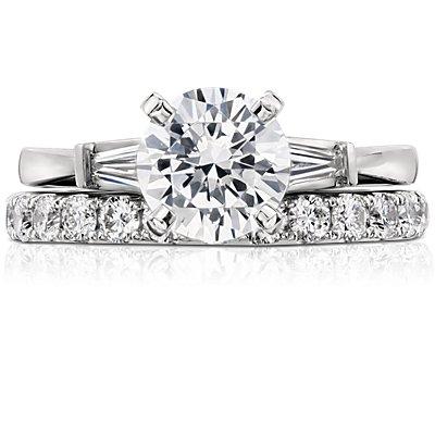 Riviera Pavé Diamond Eternity Ring in Platinum