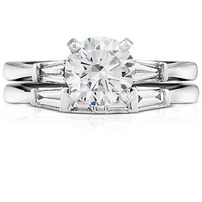 Classic Tapered Baguette Diamond Ring in Platinum