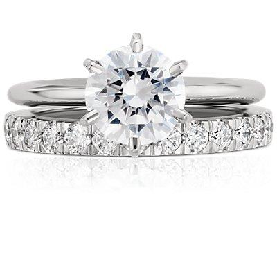 Anillo de eternidad de diamantes Nouveau en platino