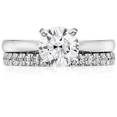 Bague diamants sertis pavé nouveau en platine