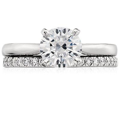 Petite bague en diamants sertis pavé en platine