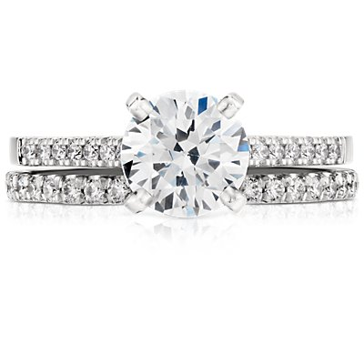 French Pavé Diamond Eternity Ring in Platinum (3/8 ct. tw.)