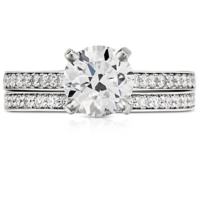 Cathedral Pavé Diamond Ring in Platinum (1/5 ct. tw.)