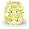 0.65-Carat Fancy Yellow Cushion-Cut Diamond