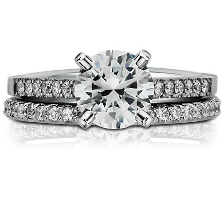 Pavé Diamond Eternity Ring in 18k White Gold (1/2 ct. tw.)