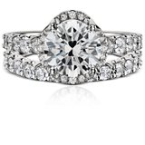 Monique Lhuillier U-Prong Diamond Ring in Platinum