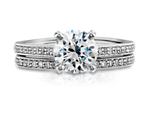 Heirloom Petite Pavé Diamond Ring in 14K White Gold