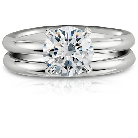 Domed Wedding Ring in Platinum (2.5mm)