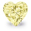 0.66-Carat Fancy Yellow Heart-Shaped Diamond
