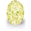 0.76-Carat Fancy Yellow Oval Diamond