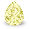 0.76-Carat Fancy Yellow Pear-Shaped Diamond