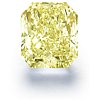 Diamante de talla radiante de 11,71 quilates de color amarillo fantasía