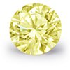 0.6-Carat Fancy Yellow Round Diamond