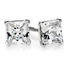 Martini Four Prong Earrings in 14K White Gold