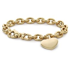 Heart-Tag Bracelet in 14k Yellow Gold
