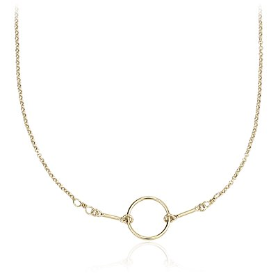 Petite Circle Necklace in 14k Yellow Gold