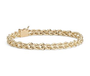 Twisted Rope Bracelet in 14k Yellow Gold