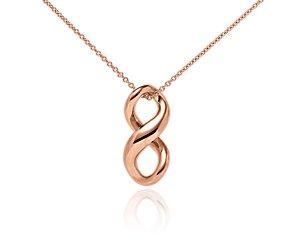 Infinity Pendant in 14k Rose Gold