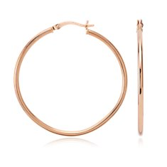 Large Hoop Earrings in 14k Rose Gold