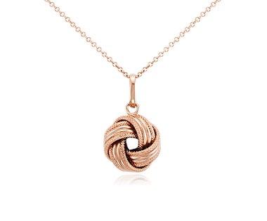 Grande Love Knot Pendant in 14k Rose Gold