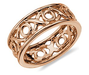 XO Ring in 14k Rose Gold