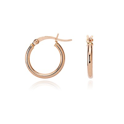 "Small Hoop Earrings in 14k Rose Gold (5/8"")"