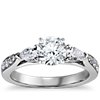 Pear Shape & Pavé Diamond Engagement Ring in 14k White Gold (1/2 ct. tw.)