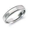 Comfort Fit Milgrain Wedding Ring in 14k White Gold (5mm)