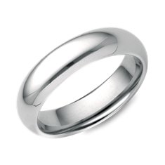 Alliance confort en Or blanc 14 ct (5 mm)