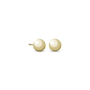 Ball Stud Earrings in 14k Yellow Gold (6mm)