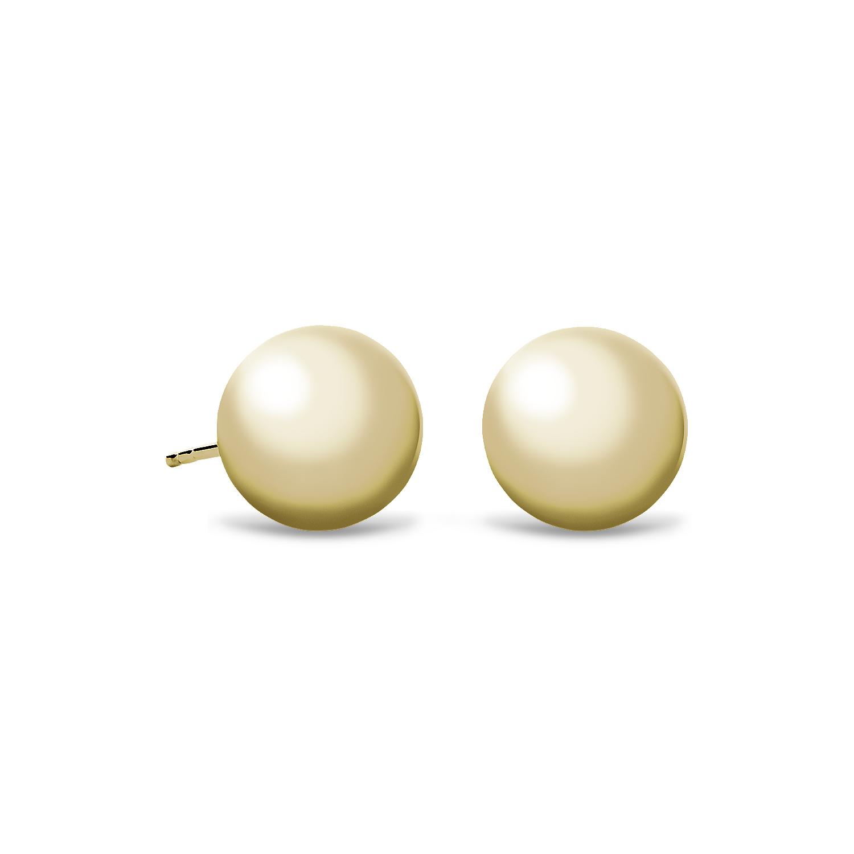 14k 金球形耳环(10毫米)