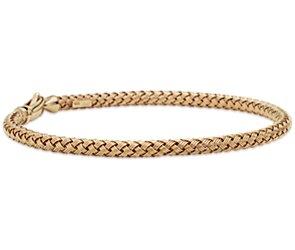 Basketweave Bracelet in 14k Yellow Gold