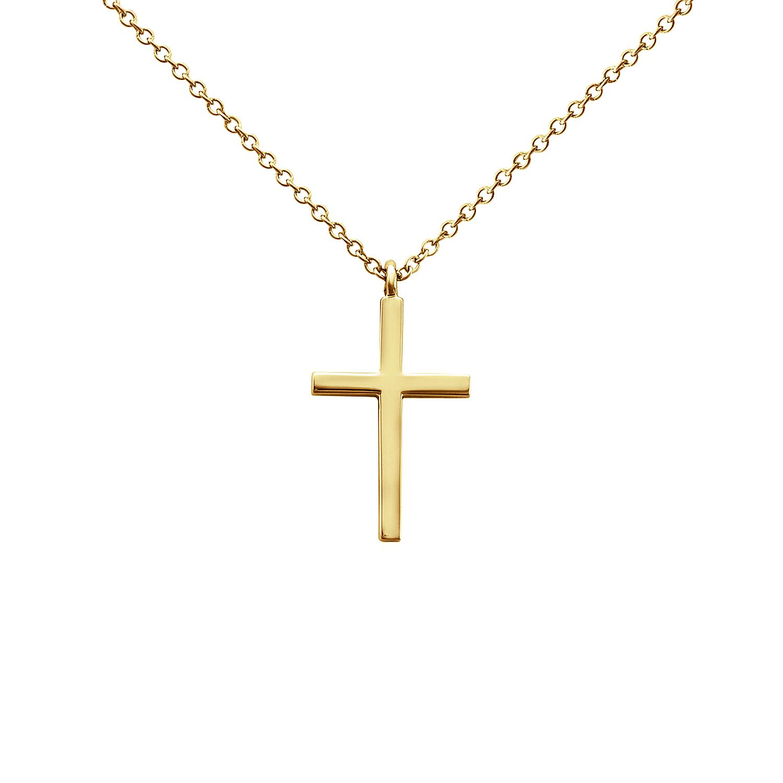Petite Cross Pendant in 14k Yellow Gold